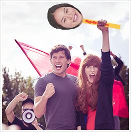Pogo Head Political face on a stick
