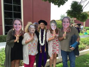 Pogo Heads at a graduation